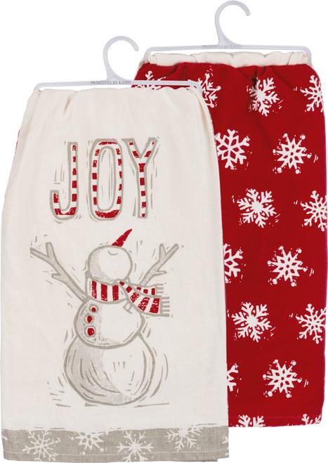 Dish Towel Set - Joy Snowman