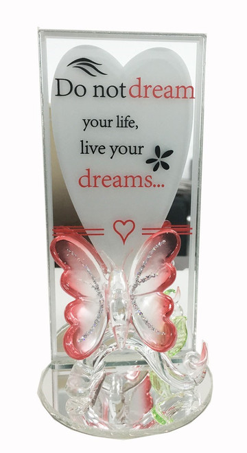 Butterfly Glassware Sentiment