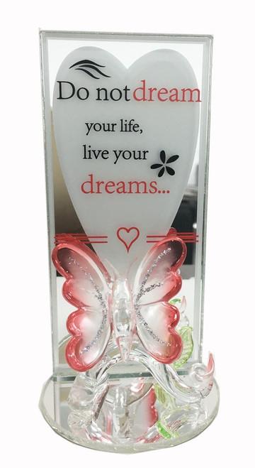 Butterfly Glassware Sentiment