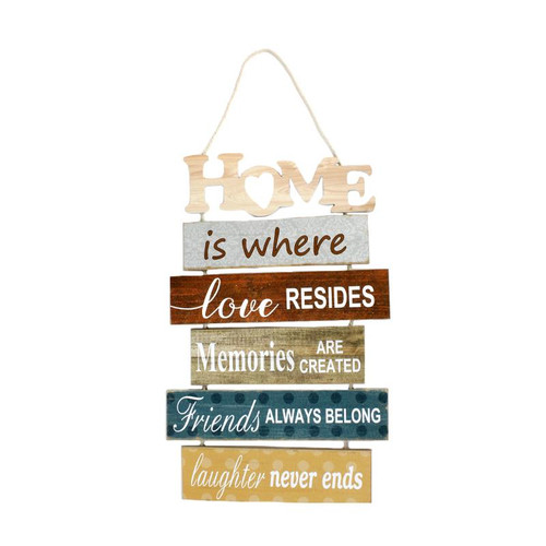 Home Slatted Wood Sign