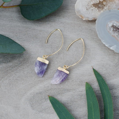 Chic Earings Gold/Amethyst