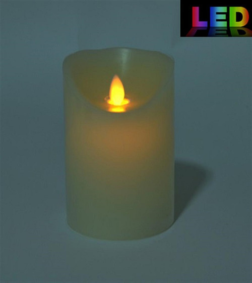 LED Candle w/timer flickering flame effect (small)