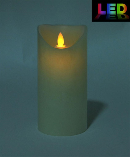 LED Candle w/timer flickering flame effect  (medium)