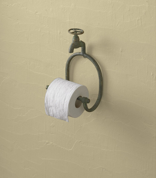 WATER FAUCET TOILET TISSUE HOLDER
