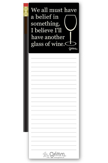 Magnetic Notepad w/Pencil Another Glass of Wine