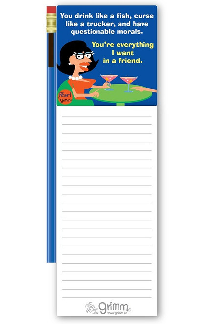 Magnetic Notepad w/Pencil Everything I want in a Friend