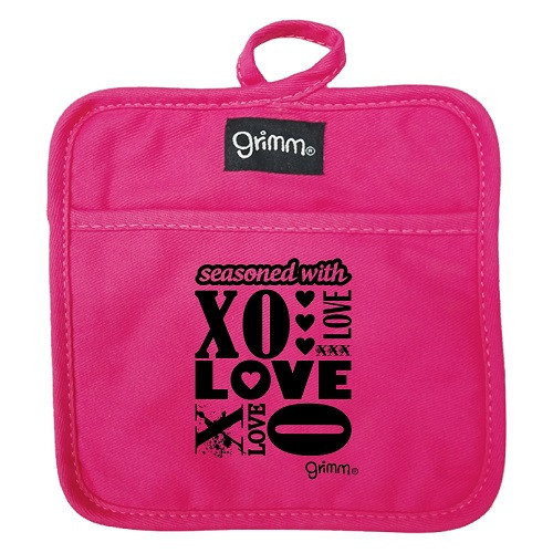 XO . Pot Holder. PINK