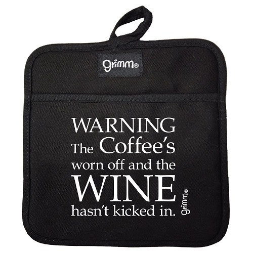 Wine Hasn't Kicked In Pot Holder BLACK