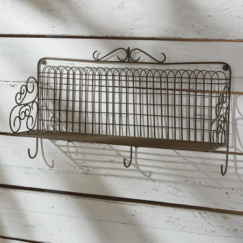 Garden Gate Shelf With Hooks