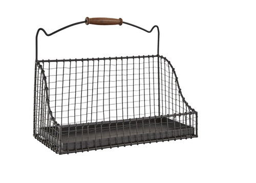 "Hanging Wire Basket 9""H X 12""W X 6""D"