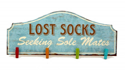 MDF W'HANG.-4 CLTH'PINS/LOST SOCKS