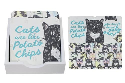 Set of 4 Cat Coasters