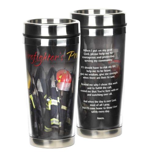 FIREFIGHTER'S PRAYER TRAVEL MUG