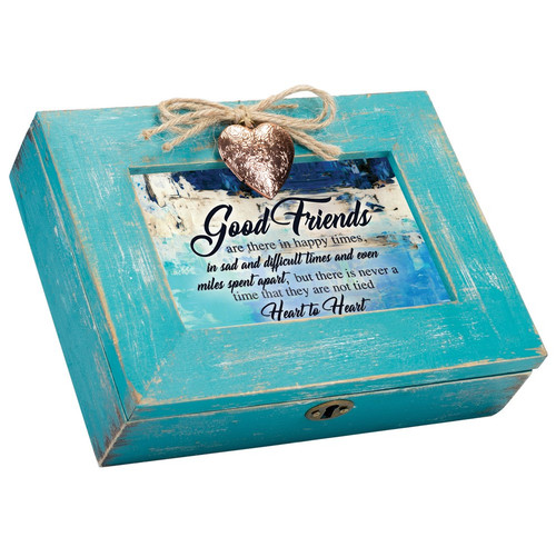 GOOD FRIENDS TIED HEART TO HEART MUSIC BOX