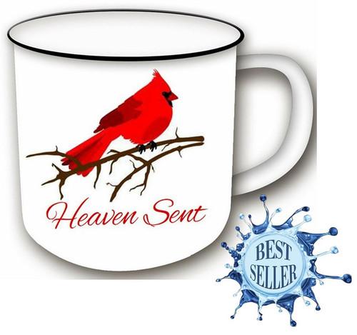 Ceramic Mug Cardinal Heaven Sent 14oz