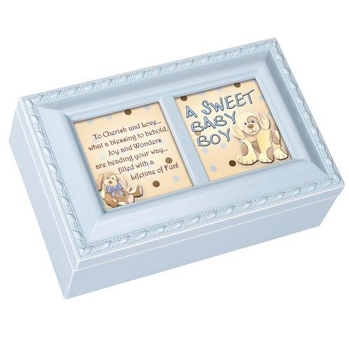 A SWEET BABY BOY BLUE MUSIC BOX