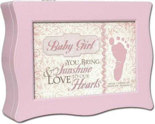 BABY GIRL PINK MUSIC BOX