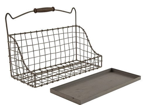 ZINC HANGING BASKET LARGE