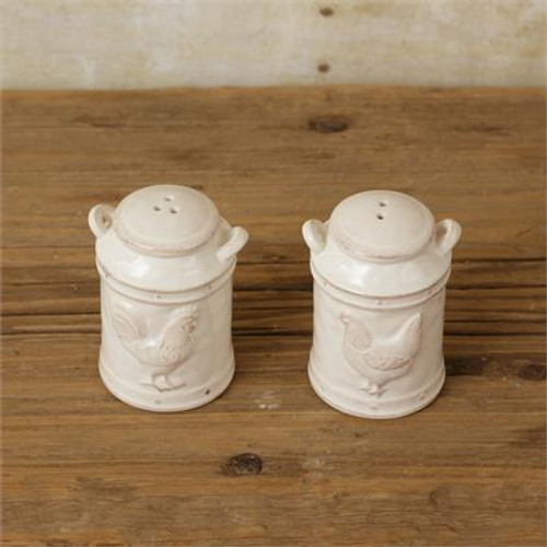 Salt and Pepper Shakers - Milk Cans