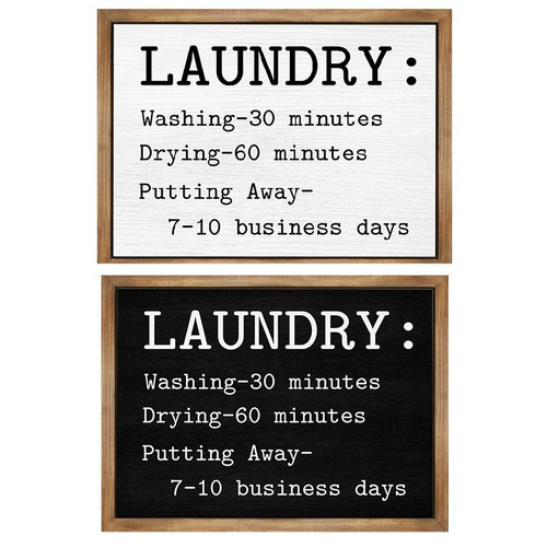 Laundry Sign (2 Colors to choose from)