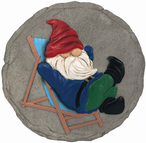 LOUNGING GNOME STEPPING STONE