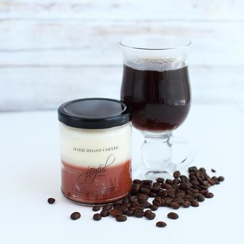 Dark Roast Coffee Soy Candle 16oz