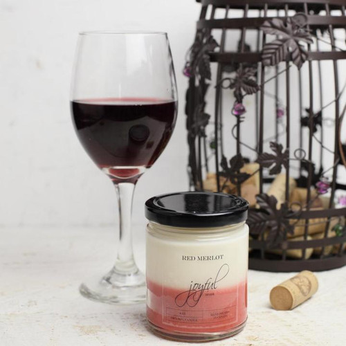 Red Merlot Soy Candle 16oz