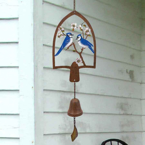 Hanging Bell w/Blue Jays Metal