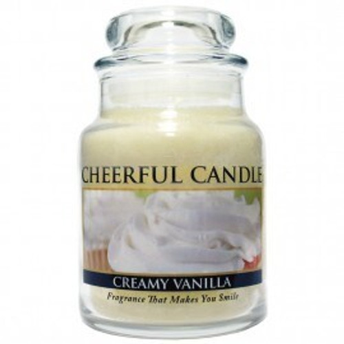 Creamy Vanilla Cheerful Candle 6 oz.