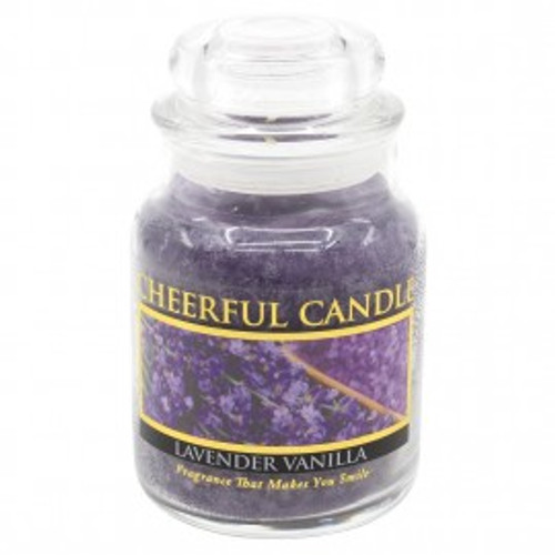 Lavender Vanilla Cheerful Candle 6 oz.