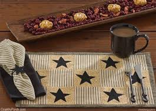 Primitive Star Placemats (4) Quilted