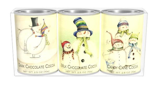 SNOW FAMILY COCOA GIFT SET (THREE 2.5OZ TINS)