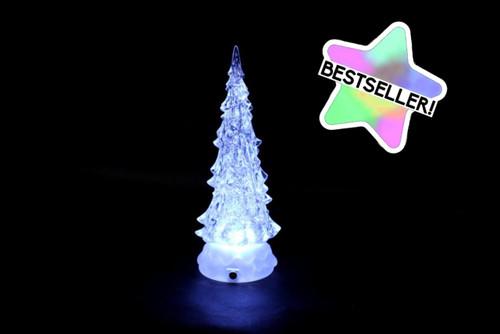 Large White LED Water Spinner Tree