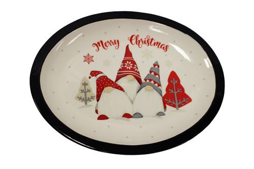 Ceramic Oval Gnome Platter