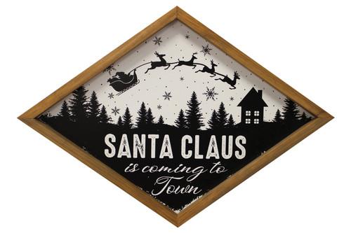 Framed Wall Art Santa Coming to Town