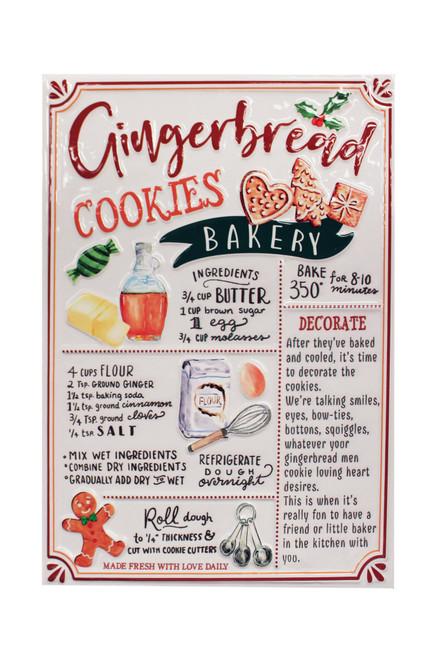 Metal Wall Art - Gingerbread Cookie Recipe