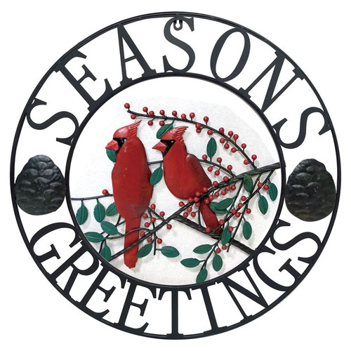 """Season's Greetings"" Wall Décor with Cardinals"