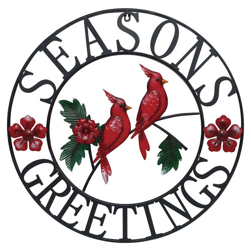 Season's Greetings Wall Décor with  Cardinals