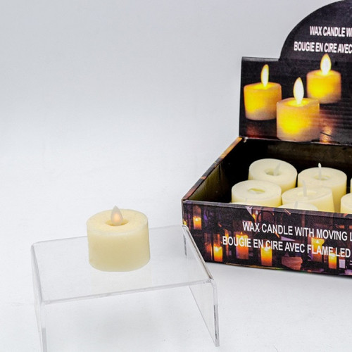 Real Wax Tealight with LED Moving Flame