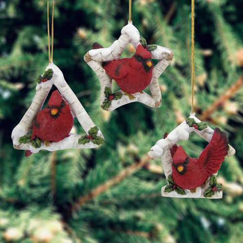 Cardinal Christmas Ornaments (3 Designs to choose from)