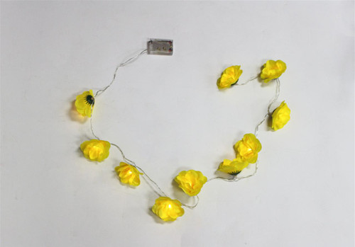 LED String Lights - Yellow Flowers