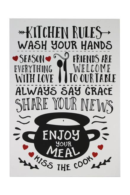 Plaque Kitchen Rules