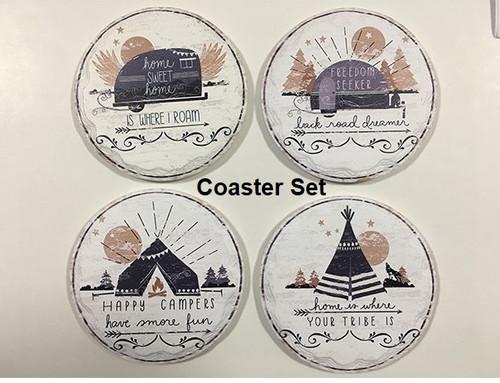 Camping Coasters (Set of 4)
