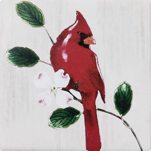Red Cardinal Coasters (Set of 4)