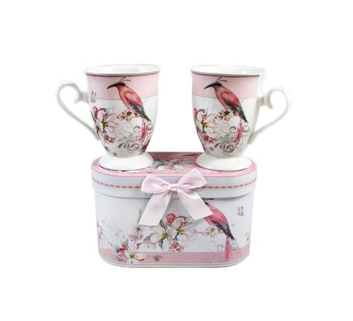 Set of 2 Porcelain Mugs in Matching Gift Box