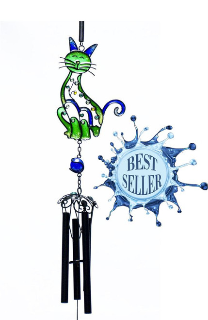 Small Green Cat Chime