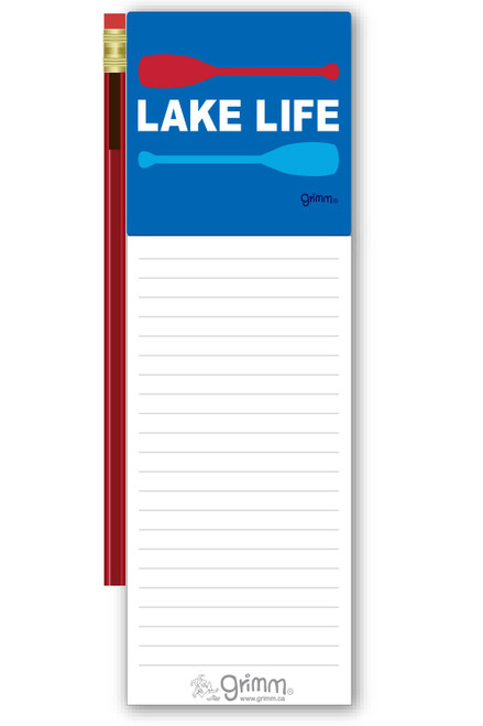 Magnetic Notepad w/Pencil - Lake Life
