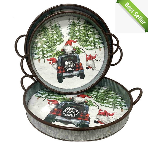 ROUND GNOME TRAY - Medium (Available in 3 Sizes)