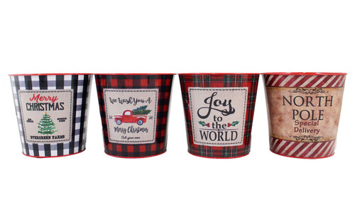 Large Christmas Nesting Pots (4 Styles to choose from)