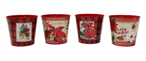 Plaid Nesting Pots Small (4 Styles to choose from)